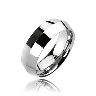 Wolframový prsten, šíře 6 mm, vel. 57