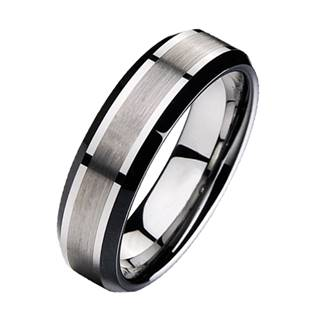 Wolframový prsten, šíře 7 mm