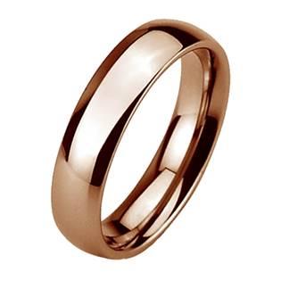 Wolframový prsten zlacený, šíře 6 mm
