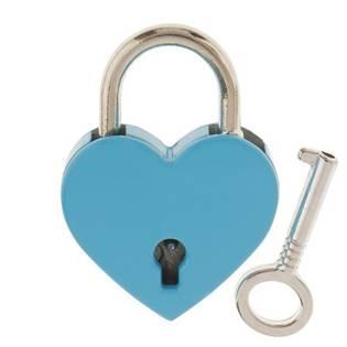 Zámeček lásky - srdíčko modré, rozměr 39 x 30 mm