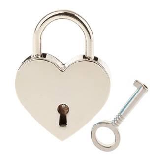 Zámeček lásky - srdíčko stříbrné