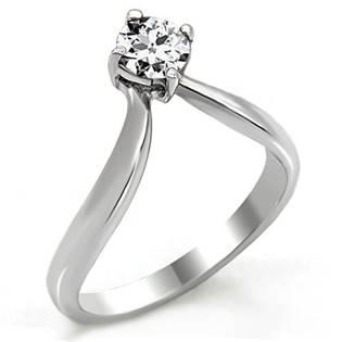 Zásnubní ocelový prsten se zirkonem OPR1479