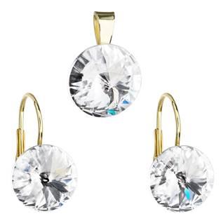Zlacená sada šperků s kameny Crystals from Swarovski® Crystal