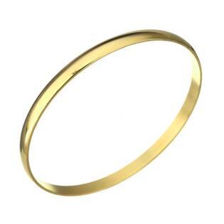 Zlacený dámský ocelový náramek kruh