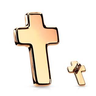 Zlacený náhradní křížek k labretě