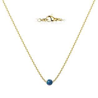 Zlacený ocelový náhrdelník s opálem - kulička 5 mm