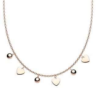 Zlacený ocelový náhrdelník s přívěsky