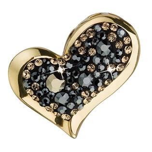 Zlacený stříbrný přívěšek srdce s kamínky Crystals from Swarovski® Colorado