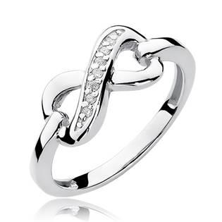 Zlatý prsten nekonečno s diamanty