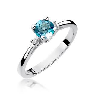 Zlatý prsten s diamanty a topazem, vel. 52