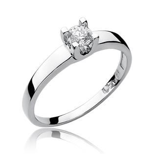 Zlatý zásnubní prsten s diamantem, vel. 52